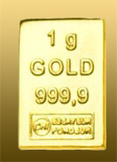 Zlatá tehlička 1 g 999,9/1000 Au