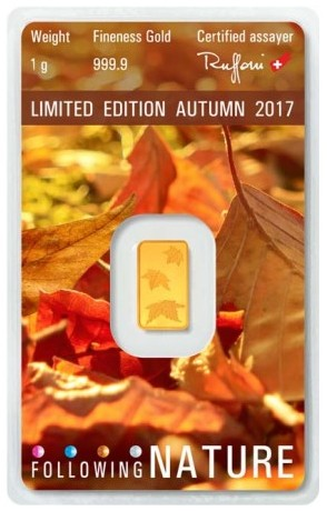 Tehlička 1 g 999,9/1000 Au - Limited edition - Autumn 2017