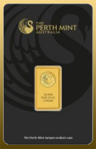 Tehlička 5 g Perth Mint 999,9/1000 Au