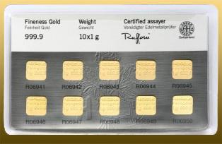 Multikarta 10 g Au - 10x 1g Au 999,9/1000 Au