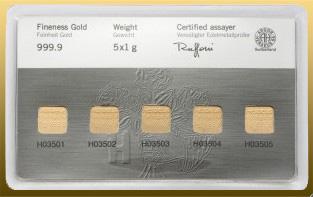 Multikarta 5g Au - 5x 1g Au 999,9/1000 Au