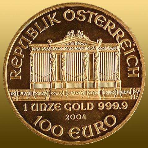 Wiener Philharmoniker 1 Oz 999,9/1000 Au 100 EURO ražba