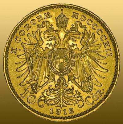 10 Kronen Ostereich (3,04g 900/1000 Au)