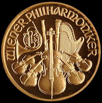 Wiener Philharmoniker 1/2 Oz 999,9/1000 Au Schillingová razba