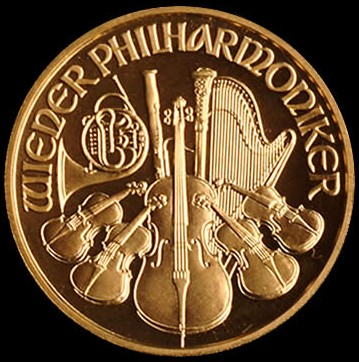 Wiener Philharmoniker 1/2 Oz EURO 999,9/1000 Au