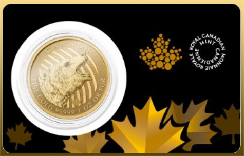 Maple Leaf 1 Oz Grizly 999,99/1000 Au 2016 - Grizly (zo série Call of the Wild)