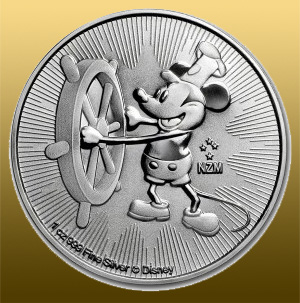 Silver Mickey Mouse 1 Oz, 999/1000 Ag